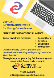 Young Carers Virtual Information Event Icon